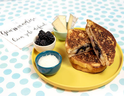 blackberry grilled cheese sliced brioche sandwich