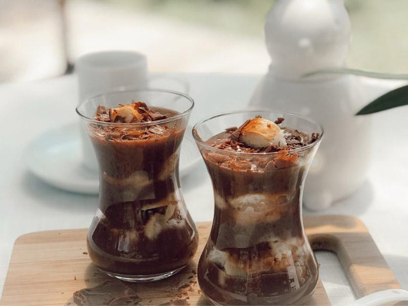 brioche chocolate trifle
