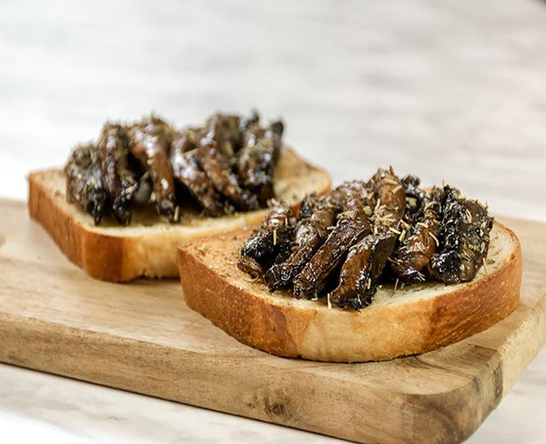 grilled mushrooms brioche toast