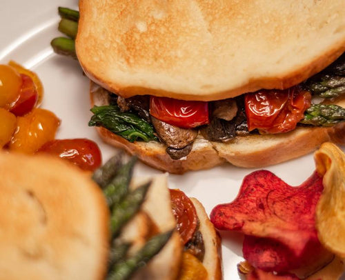 roasted vegetables grilled cheese sandwich