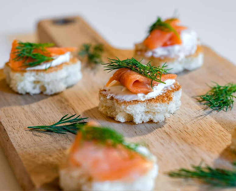 Sliced Brioche Smoked Salmon Toast Appetizer Recipe By Bakerly
