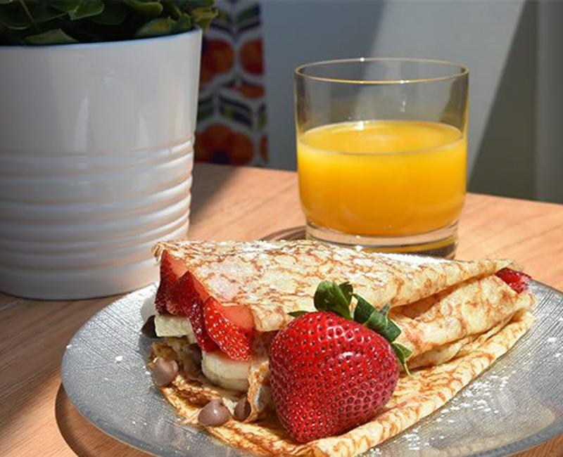 strawberry banana crêpes recipe