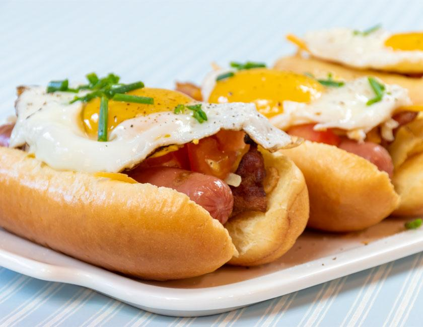 The bakerly ultimate breakfast hot dog