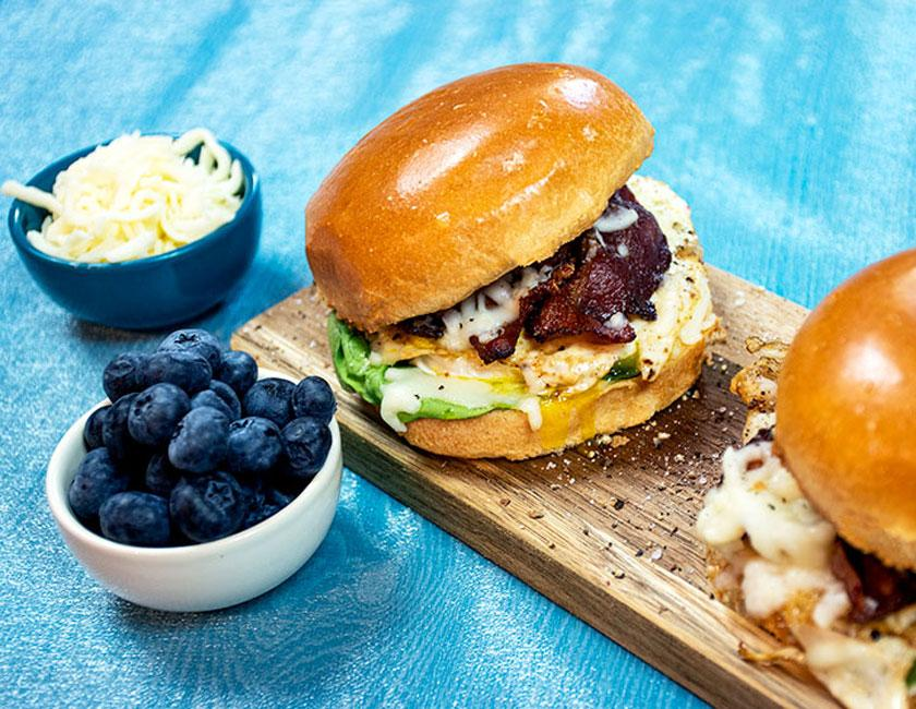 the best breakfast brioche burger sandwich