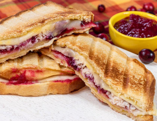 the Swiss turkey Thanksgiving panini