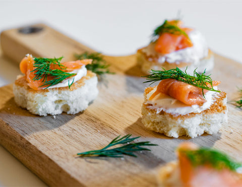 Smoked-Salmon-Sliced-Brioche-Appetizer-Recipe