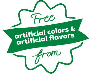 free from artifical flavors and colors