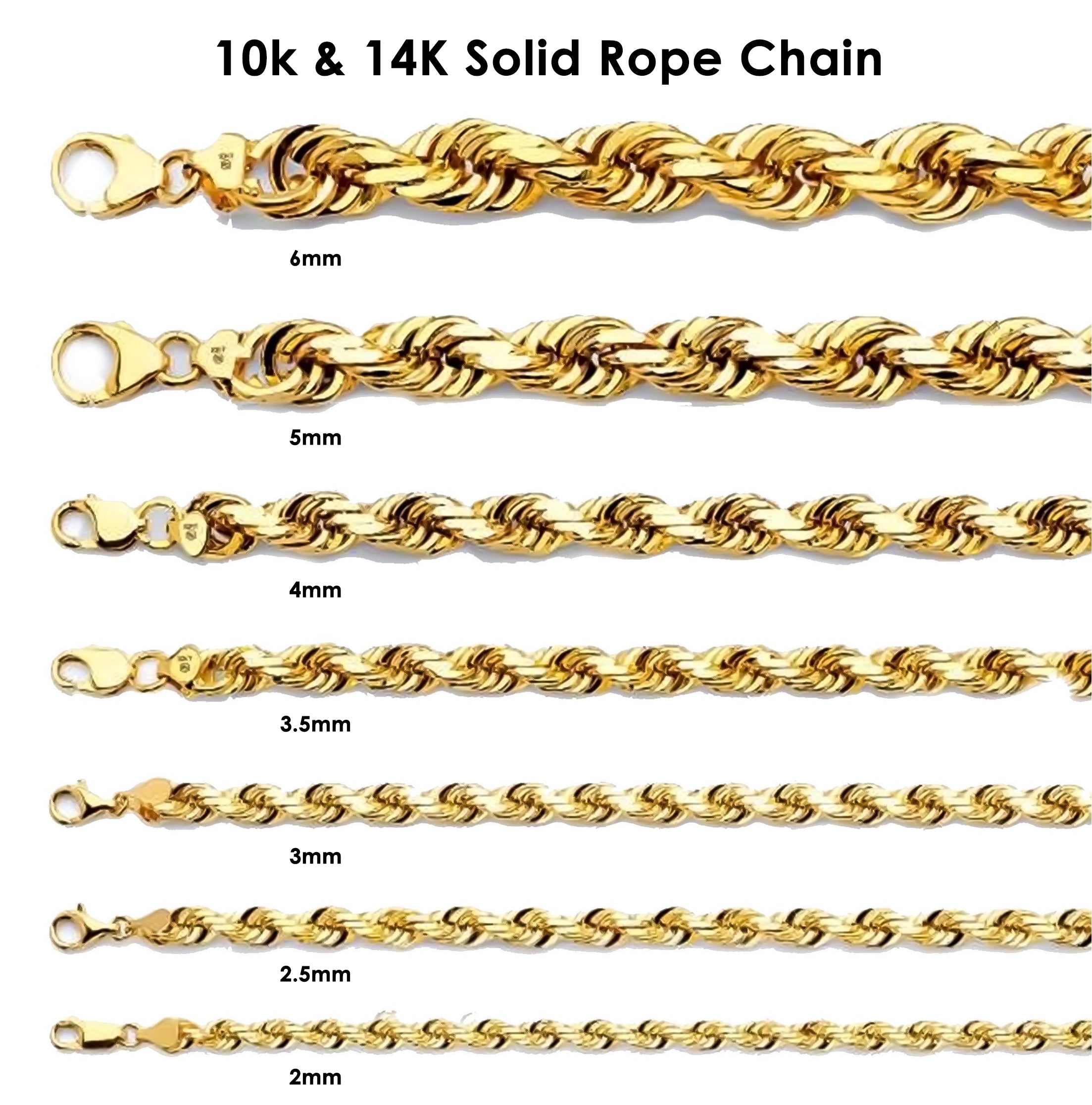 144a803f4e6ff 10K Yellow Gold Men's Solid Rope Bracelet