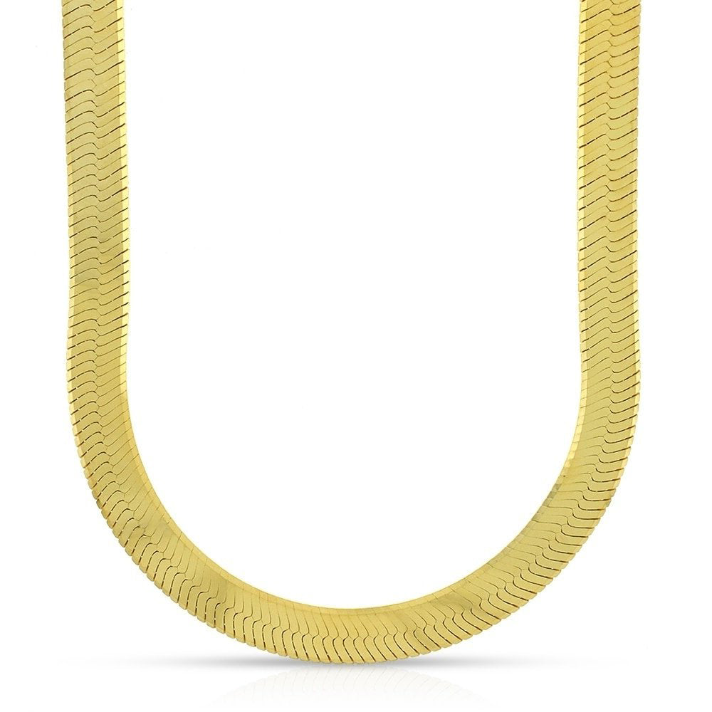 10K Yellow Gold Men's Herringbone Chain