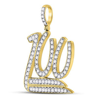 Men's 1-1/4 Ct Diamond 100 Hundred Emoji Charm Pendant in 10K Yellow Gold