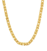 10K Yellow Gold Men's Hollow Byzantine Chain