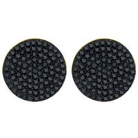 Men's 1/2 Ct Diamond Black Color Enhanced Cluster Earrings in 10K Yellow Gold