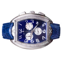 Men's Diamond Swiss Midnight Blue 45mm Chronograph Ice Watch