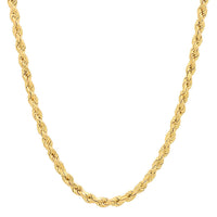 14K Yellow Gold Men's Solid Rope Chain