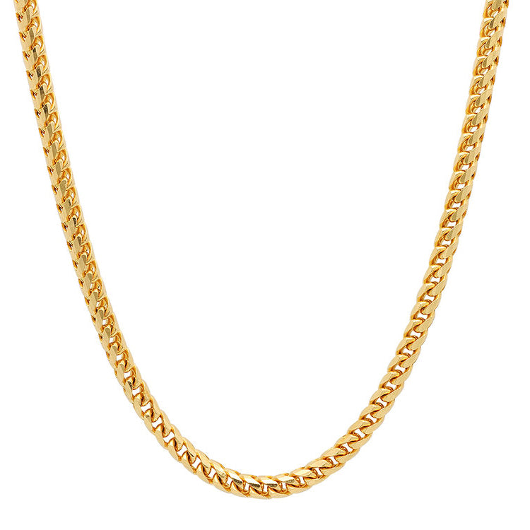 14K Yellow Gold Men's Solid Franco Chain