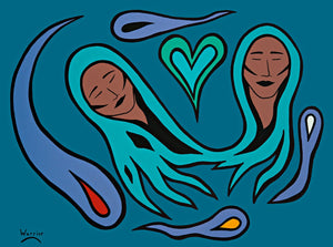 Content in Love, print by Mi'kmaq Artist Lorne Julien