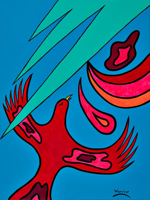 Father, Son, Holy Spirit , print by Mi'kmaq Artist Lorne Julien