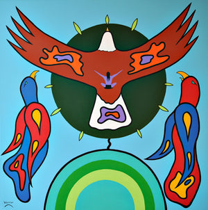 Freedom in Flight, print by Mi'kmaq Artist Lorne Julien