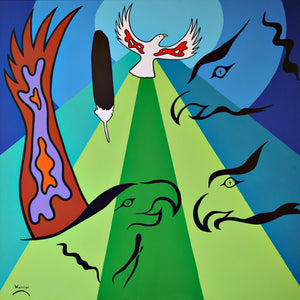 Heavenly Dove, print by Mi'kmaq Artist Lorne Julien