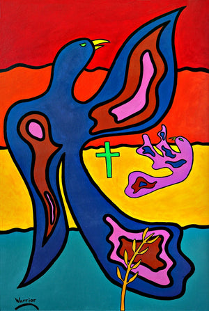 Power in the Cross, print by Mi'kmaq Artist Lorne Julien