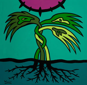 Rooted in Love, print by Mi'kmaq Artist Lorne Julien
