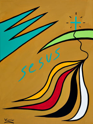 Selecting the Good Road, print by Mi'kmaq Artist Lorne Julien