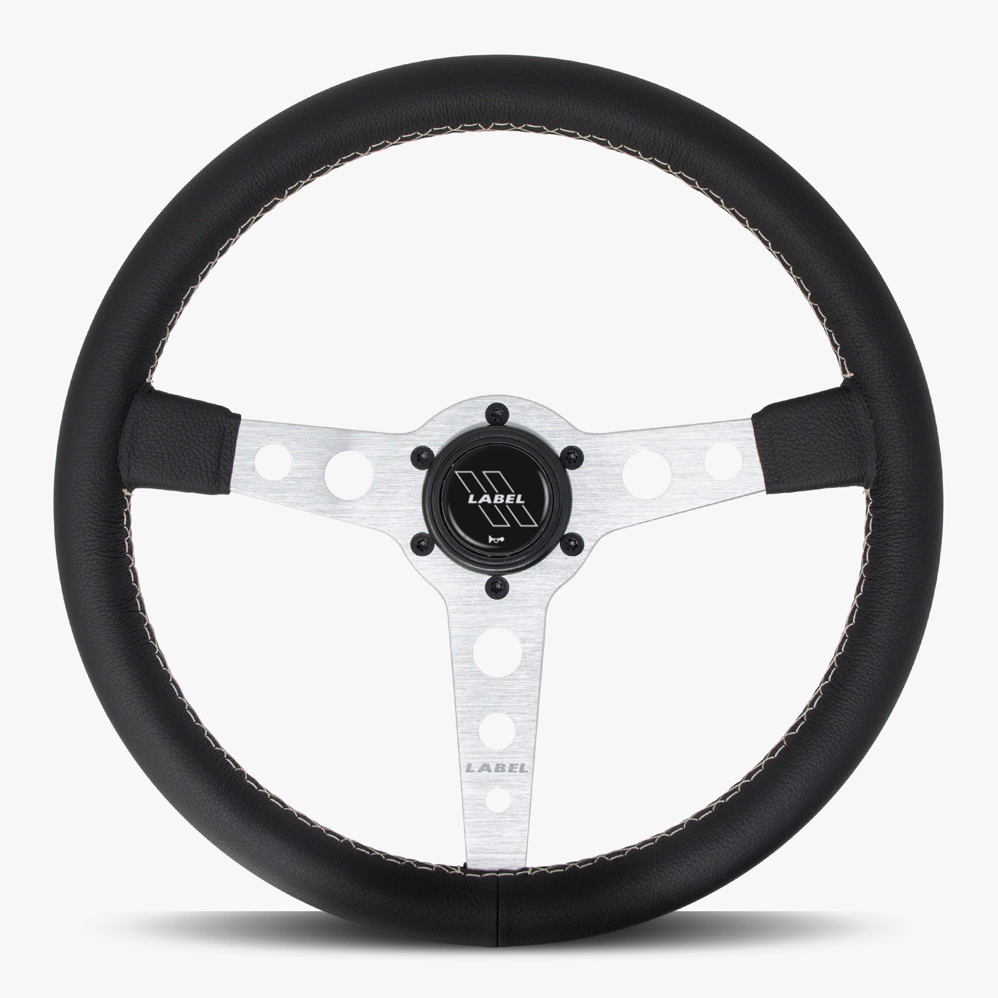 The Daytona | Black Leather | Silver Spoke | White Stitch