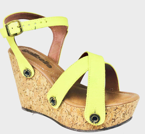Giovanna GV01 Suede Yellow (Strap ONLY)