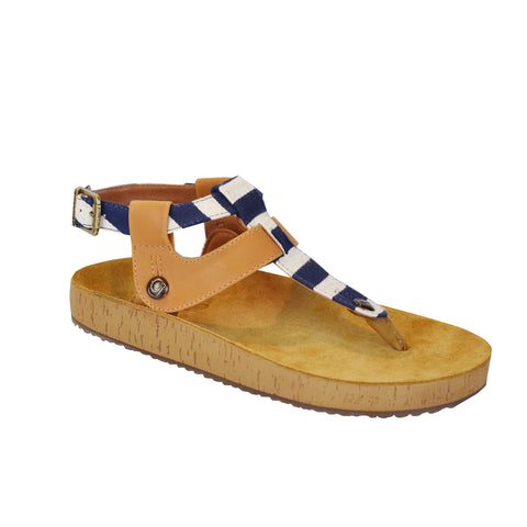 GABRIELA  GB28 Fabric Navy/Soft Camel (Strap ONLY)