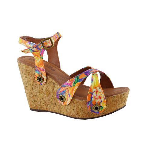 Giovanna GV05 Satin Floral Orange (Strap ONLY)