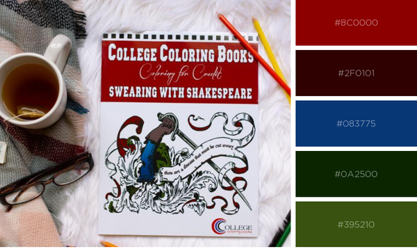 """Swearing with Shakespeare"" coloring book"