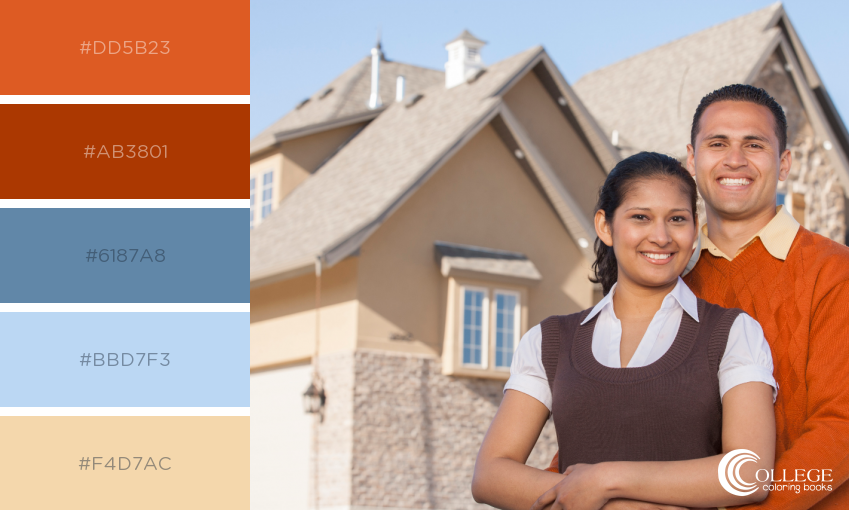 College Coloring Books Real Estate Coloring Happy Homeowners