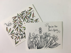 Sweet Briar Coloring Note Cards