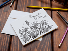 You're the Bee's Knees Spring Coloring Note Cards, Set of 12