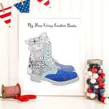 My Hero Wears Combat Boots Coloring Page-Craft and Color Co