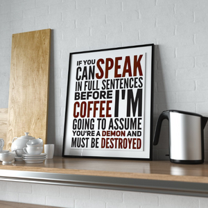 Coffee Art Print for Home Kitchen or Coffee Shop-Craft and Color Co
