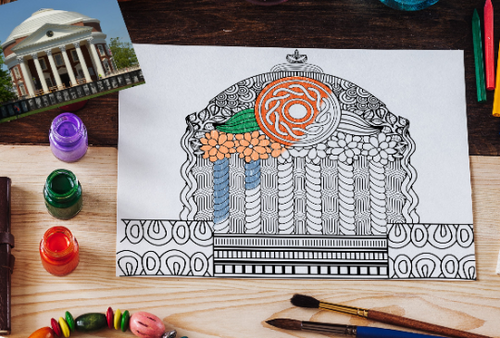 Custom Coloring Page of Your School Architectural Building-Craft and Color Co