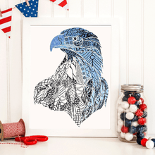 American Eagle Patriotic Adult Coloring Page