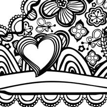 I Heart Virginia Roanoke Hollins Coloring Page