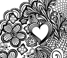 I Heart Virginia Charlottesville UVA Coloring Page