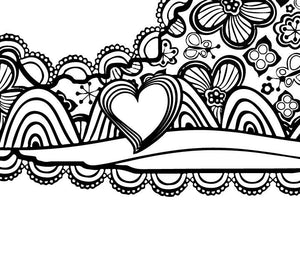 I Heart Virginia Blacksburg Va Tech Coloring Page
