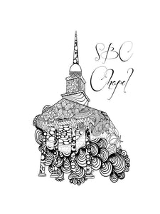Sweet Briar College SBC Chapel Coloring Poster-Craft and Color Co