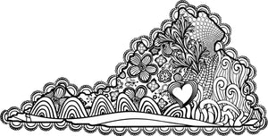 I Heart Virginia Farmville Longwood Hampden-Sydney Coloring Page