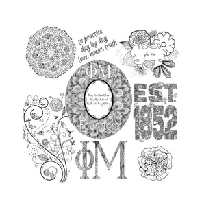 Phi Mu Fraternity Coloring Book