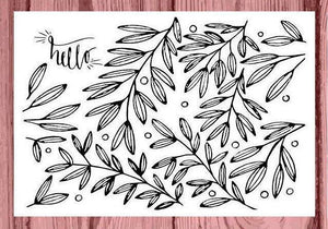 Alpha Omicron Pi AOII Coloring Note Cards