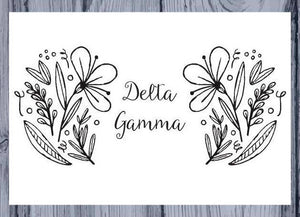 Delta Gamma DG Coloring Note Cards