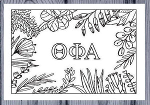 Theta Phi Alpha Coloring Note Cards