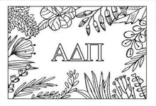 Alpha Delta Pi Coloring Note Cards