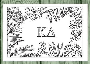 Kappa Delta Coloring Note Cards