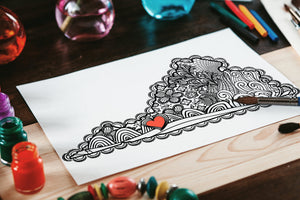 I Heart Virginia Blacksburg Va Tech Coloring Page-Craft and Color Co